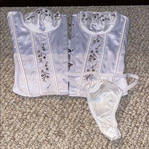 Never worn corset and panty